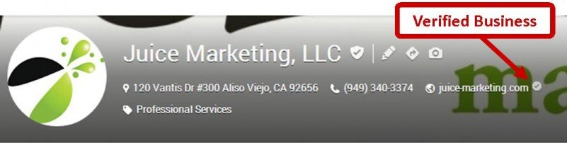 Google+ Verified Business Icon