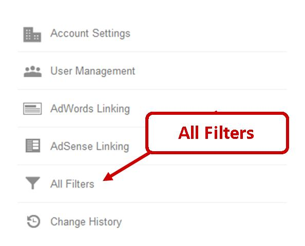 Applying Google Analytics Filters