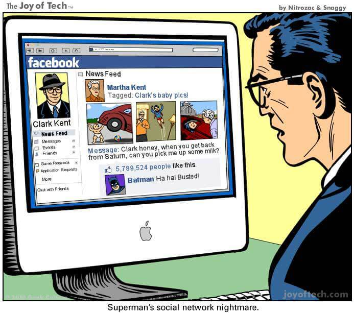 Social Media Cartoons - Superman Busted