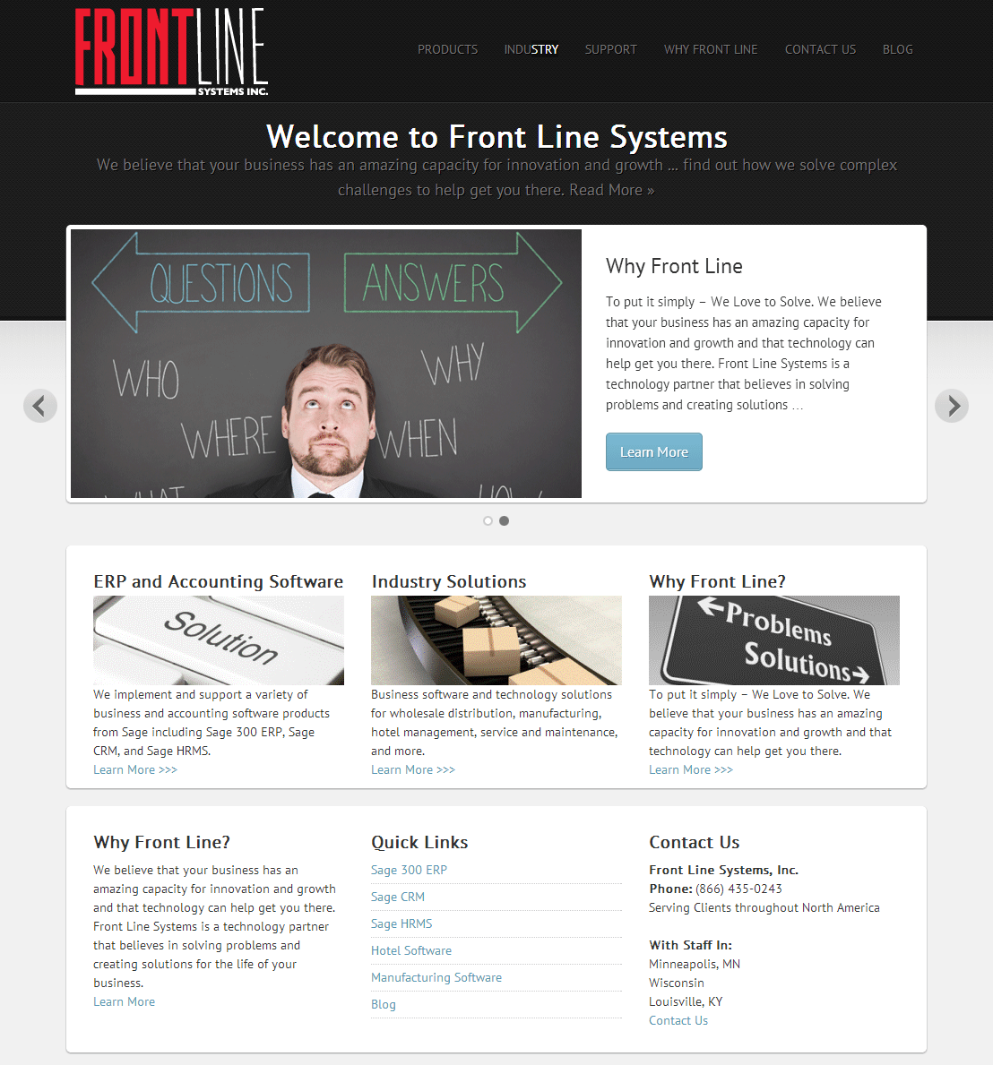 Front Line Systems - Website