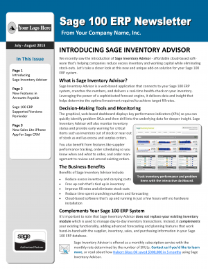 Sage 100 ERP CRM News  - Design 2