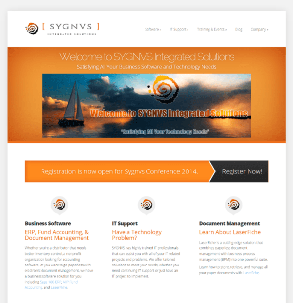 Sygnvs Website Redesign