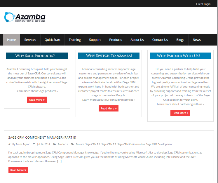 Azamba Consulting Old Website