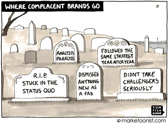 Social Media Cartoons - Complacent Brands