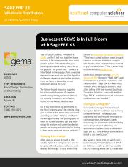 Sage ERP X3 Success Story
