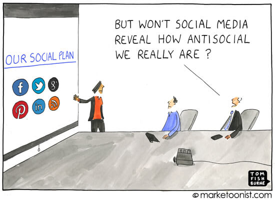 Social Media Cartoons - Antisocial Social Media