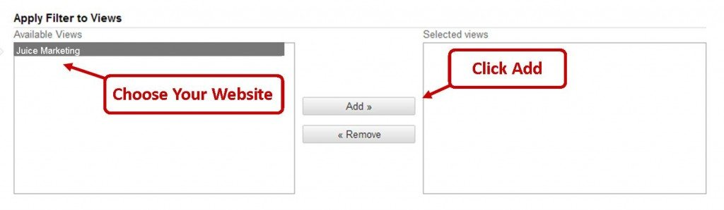 Applying Filters in Google Analytics
