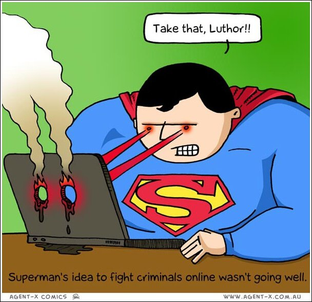 Social Media Cartoons - Online Crime Fighting