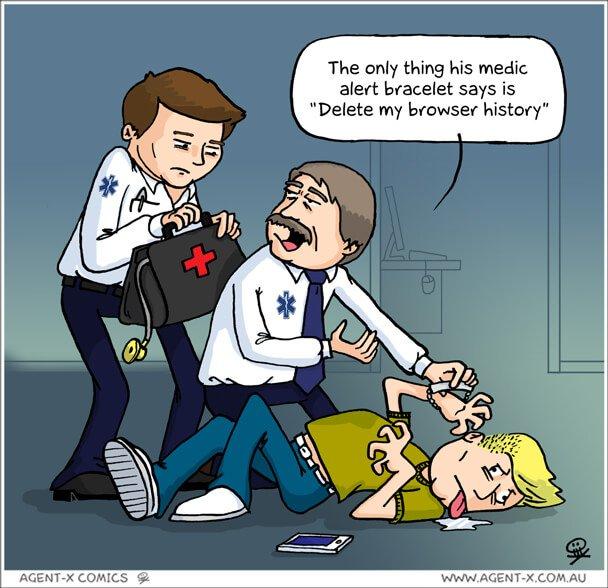 Social Media Cartoons - Delete Browser History