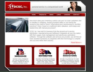 DCSC, Inc. Website (Before)