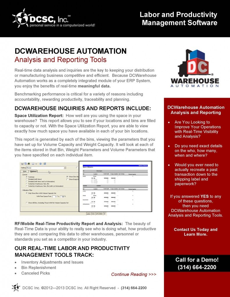 Brochure Layout & Design for DCSC, Inc.