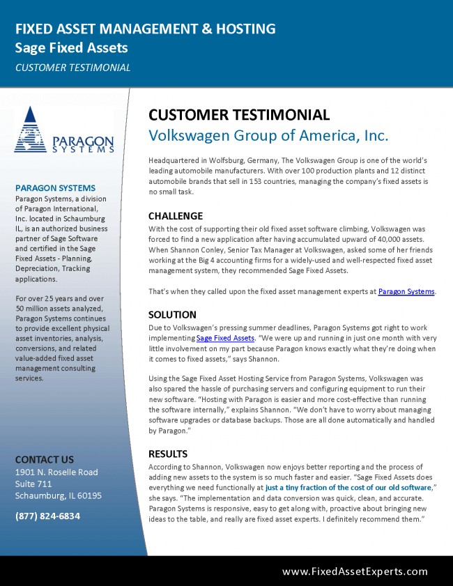 Paragon Systems - Volkswagen Customer Buzz