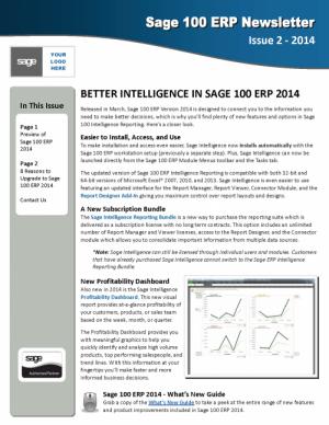 Sage 100 ERP CRM News - Design 3