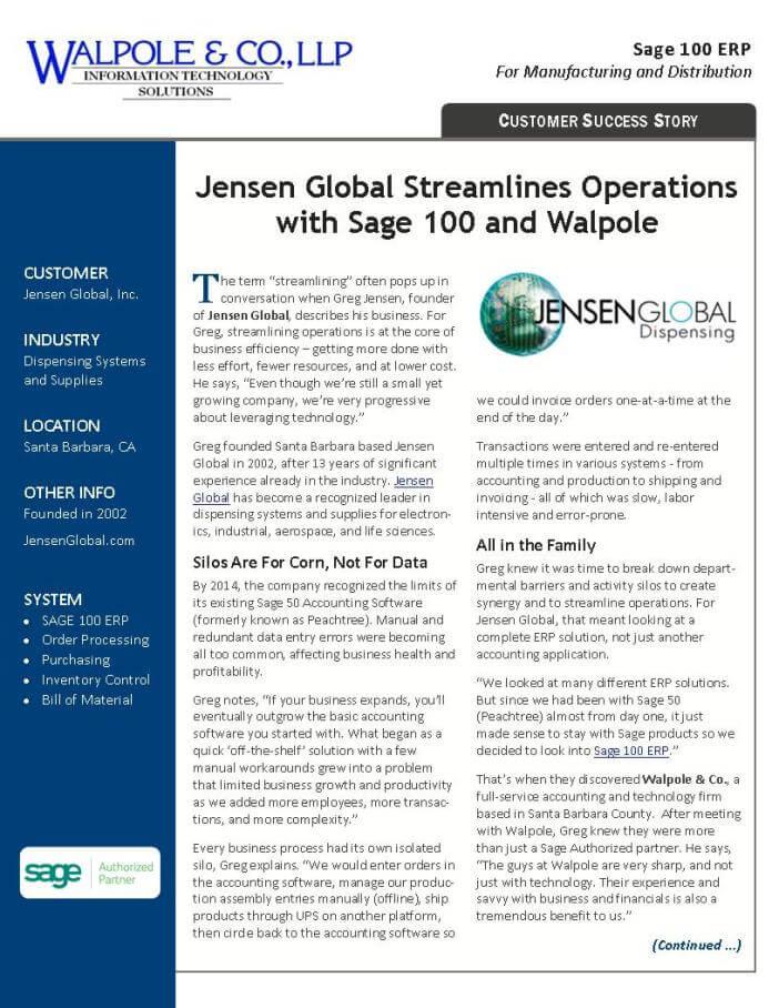 Sage 100 ERP Success Story