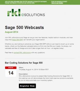 Sage Partner Marketing Email Newsletter