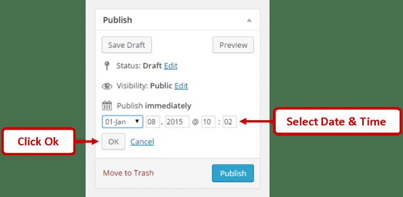 Wordpress Schedule Post Date Time