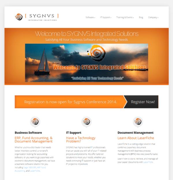 Sygnvs Website Redesign