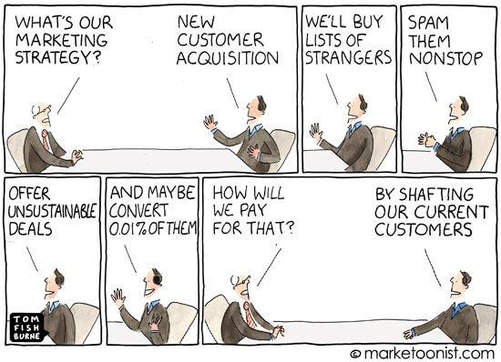 Social Media Cartoons - Customer Acquisition