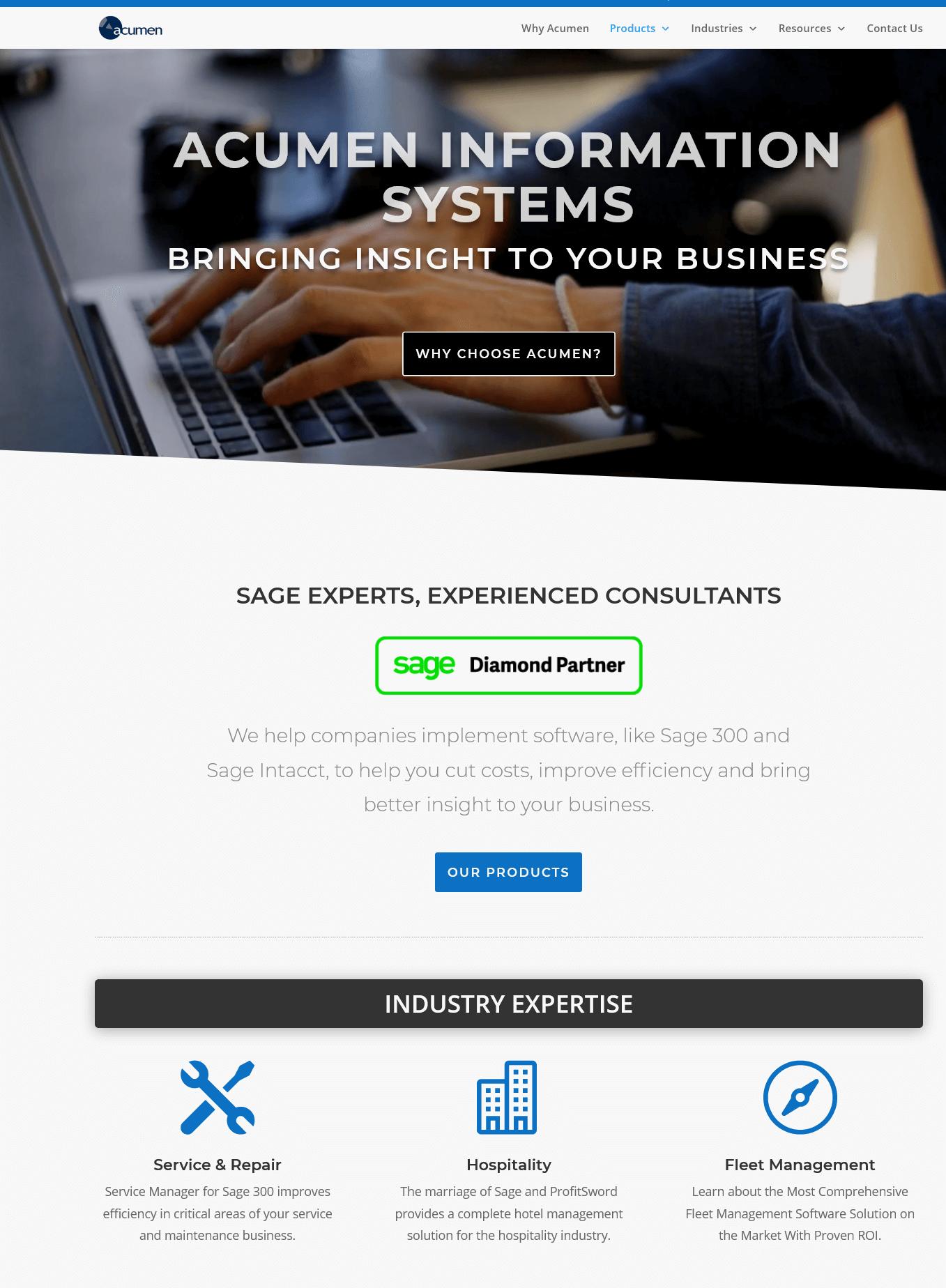 sagej partner website screenshot