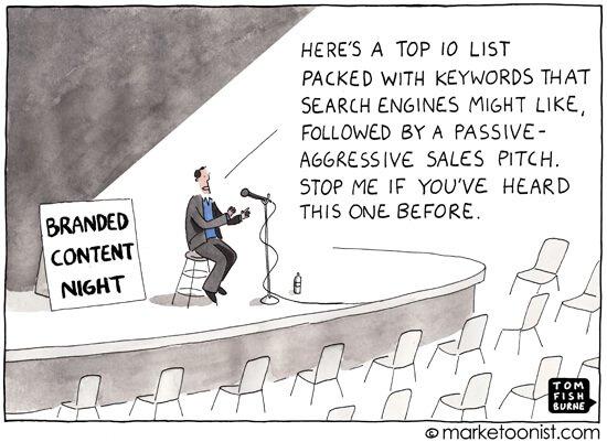 Social Media Cartoons - Bad Branded Content