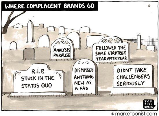 Social Media Cartoons - Complacent Brands