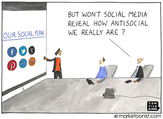 Social Media Cartoons - Antisocial Social Media