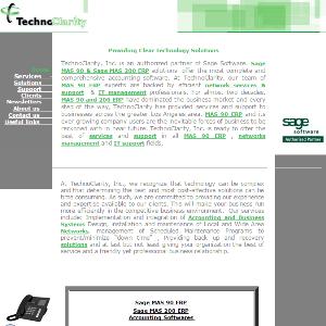 TechnoClarity Website (Old)